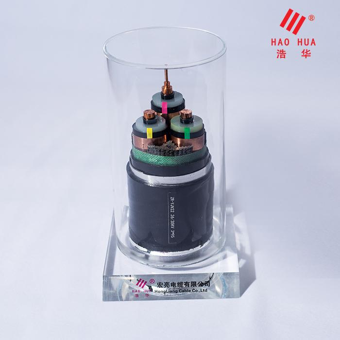 高压电缆 ZR-YJV22 26/35KV 3×95
